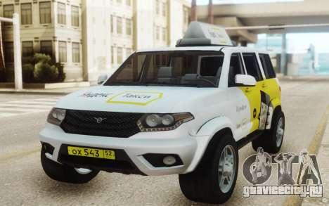 УАЗ Патриот Яндекс такси для GTA San Andreas