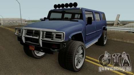 Mammoth Patriot Custom v2 GTA V для GTA San Andreas