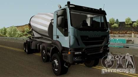 Iveco Trakker Cement 10x6 для GTA San Andreas вид изнутри