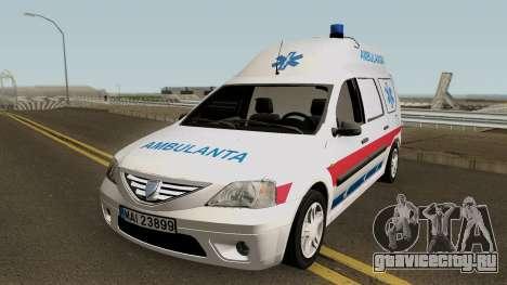 Dacia Logan MCV Ambulanta для GTA San Andreas