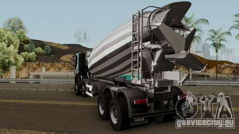 Iveco Trakker Cement 10x6 для GTA San Andreas вид сзади слева