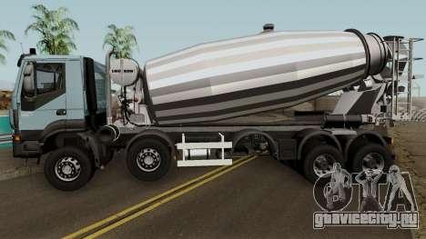 Iveco Trakker Cement 10x6 для GTA San Andreas вид слева