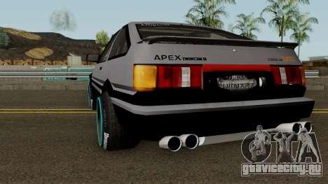 Toyota GT-Apex Levin AE86 Deuce для GTA San Andreas