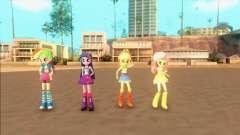 My Little Pony Equestria Girls Mod v1 для GTA San Andreas