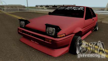 Toyota Trueno AE86 Coupe (Pussy Destroyer) 1986 для GTA San Andreas