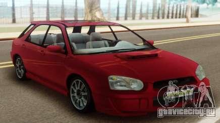 Subaru Impreza WRX Wagon Red для GTA San Andreas