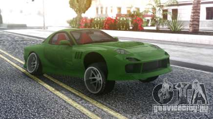 Mazda RX-7 Green Drift для GTA San Andreas