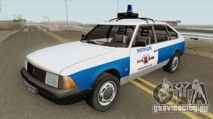 АЗЛК 21418 Москвич (Муниципальная Милиция) для GTA San Andreas