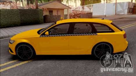 Audi RS6 C7 Taxi для GTA San Andreas