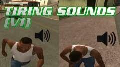 Tiring Sounds v1 для GTA San Andreas