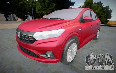 Dacia Logan 2021 (interior lowpoly) для GTA San Andreas