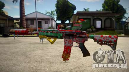 HK416 Merry Christmas для GTA San Andreas