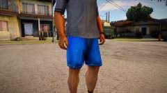Darker Colored Cut Off Denims Shorts For Cj для GTA San Andreas