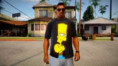 Bart Simpson T-Shirt (good textures) для GTA San Andreas