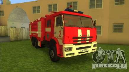 KamAZ-6520 Fire AC-40 для GTA Vice City