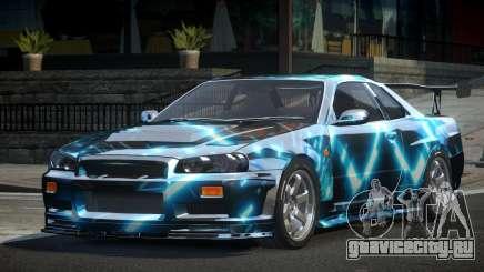Nissan Skyline R34 BS U-Style PJ3 для GTA 4