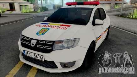 Dacia Logan Plus Fire Department для GTA San Andreas