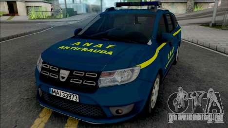 Dacia Logan MCV 2018 ANAF Antifrauda для GTA San Andreas