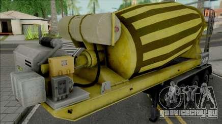 Cement Mixer Trailer Yellow для GTA San Andreas