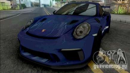 Porsche 911 GT3 RS 2018 (SA Lights) для GTA San Andreas