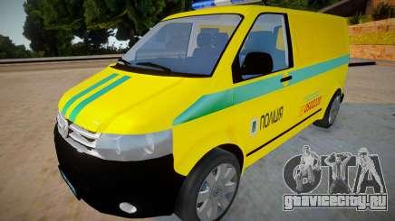 Volkswagen Transporter T5 - Полиция для GTA San Andreas