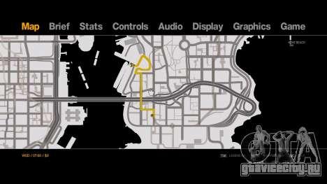 Old-Gen V Style Black on White Radar - Minimap для GTA 4