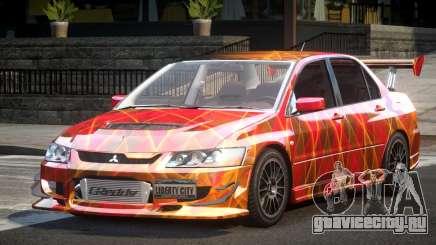 Mitsubishi Lancer Evolution VIII GST-R S1 для GTA 4
