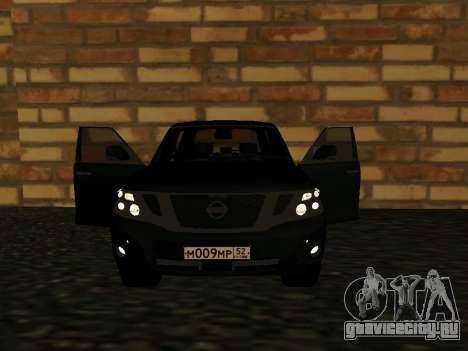 Nissan Patrol LE Y62 RUS Plates для GTA San Andreas