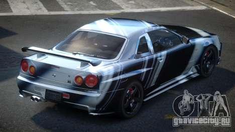 Nissan Skyline R34 PSI-U S7 для GTA 4