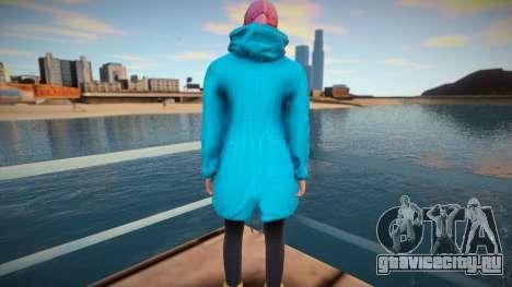 Девушка в бирюзовом плаще из GTA Online для GTA San Andreas