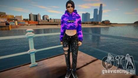 DOA Momiji Fashion Casual V3 Crop Hoodie для GTA San Andreas
