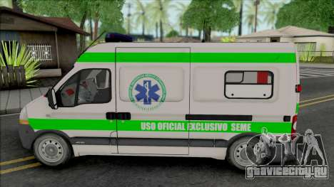 Renault Master Seme Ambulancia Paraguay для GTA San Andreas