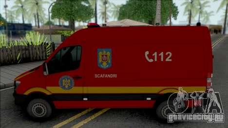 Mercedes-Benz Sprinter Scafandrii Pompierii для GTA San Andreas