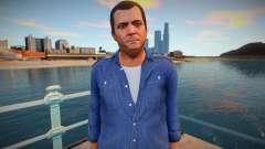Майкл в синей рубашке для GTA San Andreas