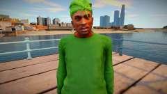 CJ as Grove Family Outfit v1 для GTA San Andreas