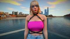 GTA Online Skin Ramdon Rubia 9 Fashion Casual v2 для GTA San Andreas
