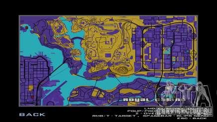 Карта в сепии для GTA San Andreas