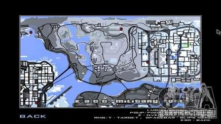 Зимняя игровая карта для GTA San Andreas