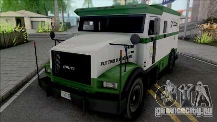 GTA V Brute Stockade [VehFuncs] для GTA San Andreas
