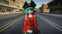 PDFT Hatsune Miku Pirate для GTA San Andreas