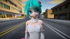 PDFT Hatsune Miku White Dress для GTA San Andreas