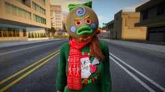 Девушка в новогодней одежде 3 для GTA San Andreas