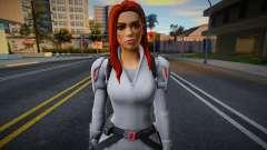 Fortnite - Black Widow White Suit для GTA San Andreas
