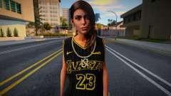 Lara Croft Fashion Casual - Los Angeles Lakers 1 для GTA San Andreas