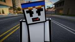 Sven - Stickmin Skin from Minecraft для GTA San Andreas