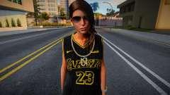 Lara Croft Fashion Casual - Los Angeles Lakers 2 для GTA San Andreas