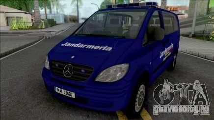 Mercedes-Benz Vito Jandarmeria Romana для GTA San Andreas